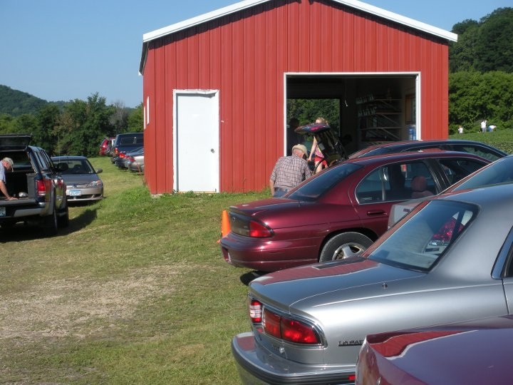 The strawberry shed and parking